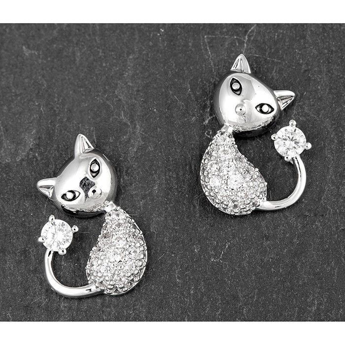 Sparkly Cat Ear Studs