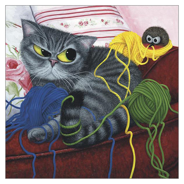 Still Got the Blues For You Cat Card by Tamsin Lord
