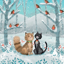 Christmas Cats Charity Card Pack