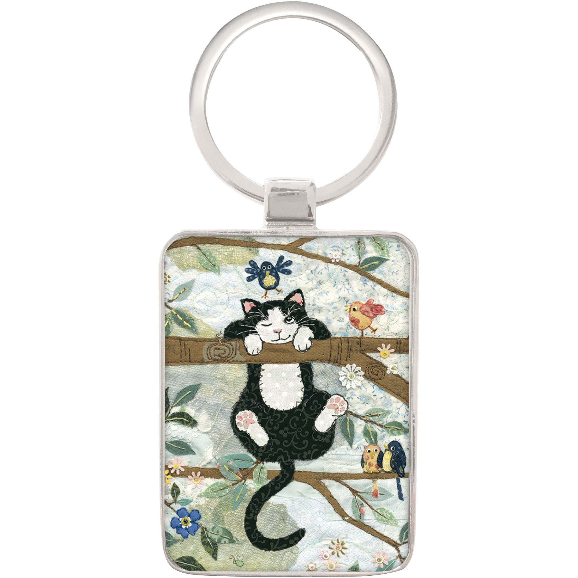 Tree Cat Keyring