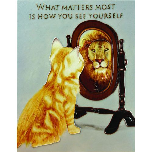 What Matters Most is How You See Yourself Wall Tile - Hand painted