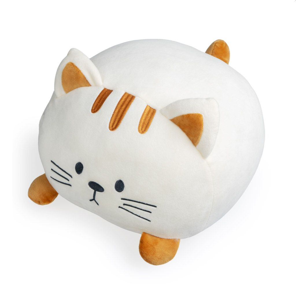 White and Ginger Cat Decorative Cushion