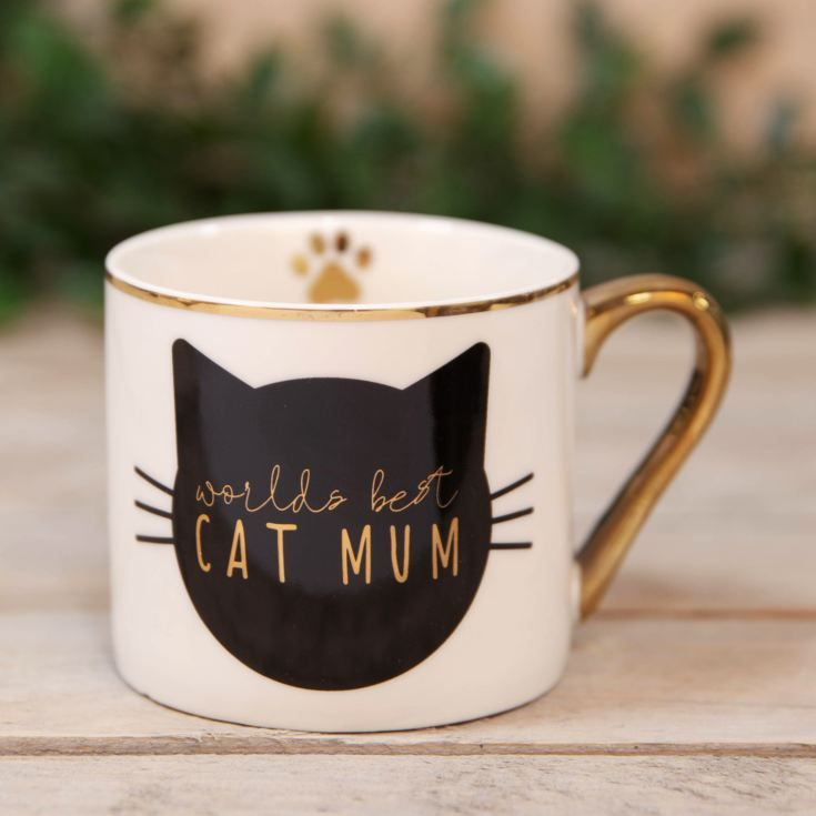 Worlds Best Cat Mum Bone Chiina Mug