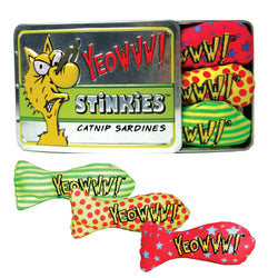 Yeowww Stinkies Tin of 3 Catnip Sardines