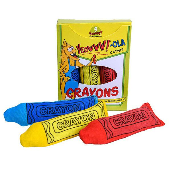 Yeowww catnip crayons, pack of 3