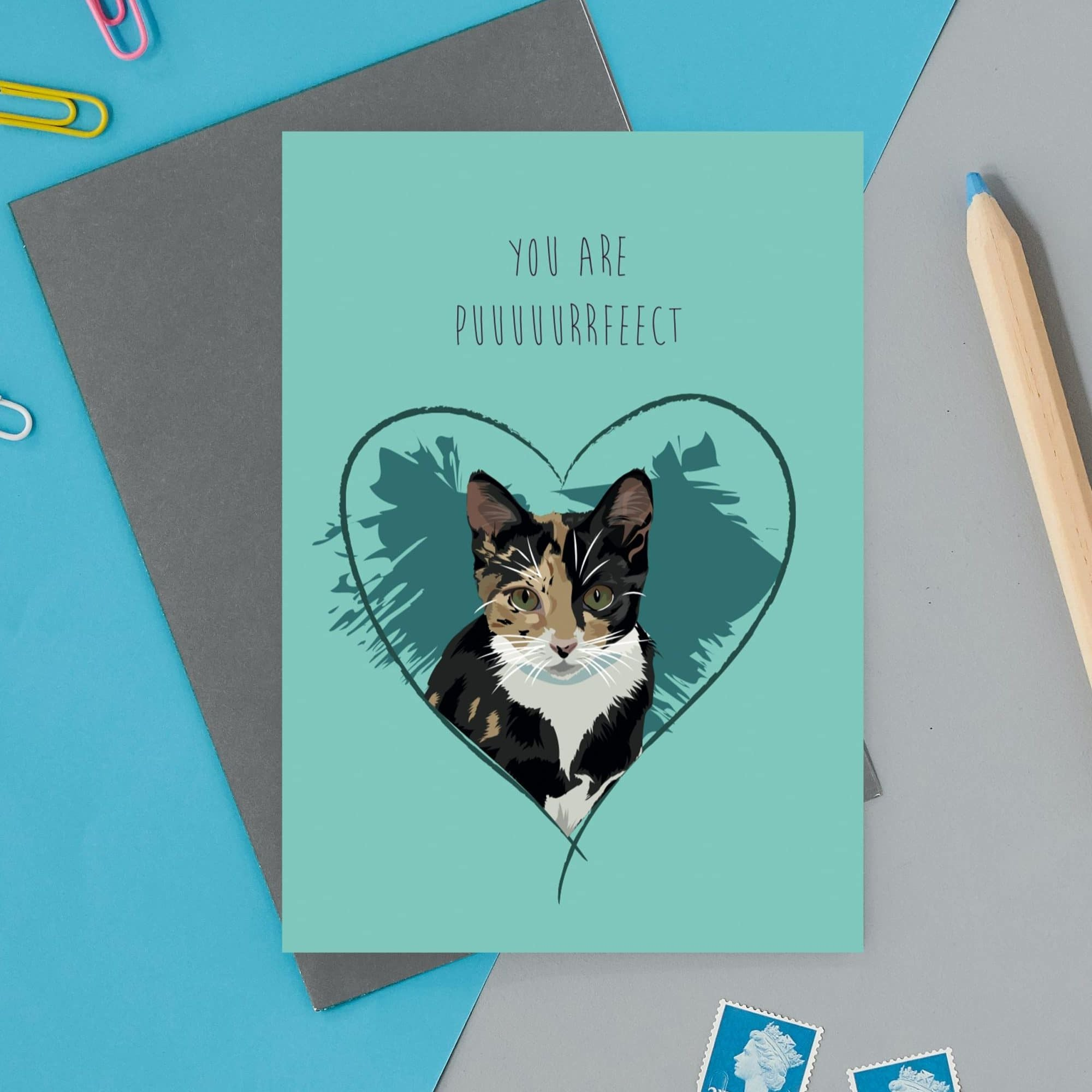 You are Puuurrfect Cat Card