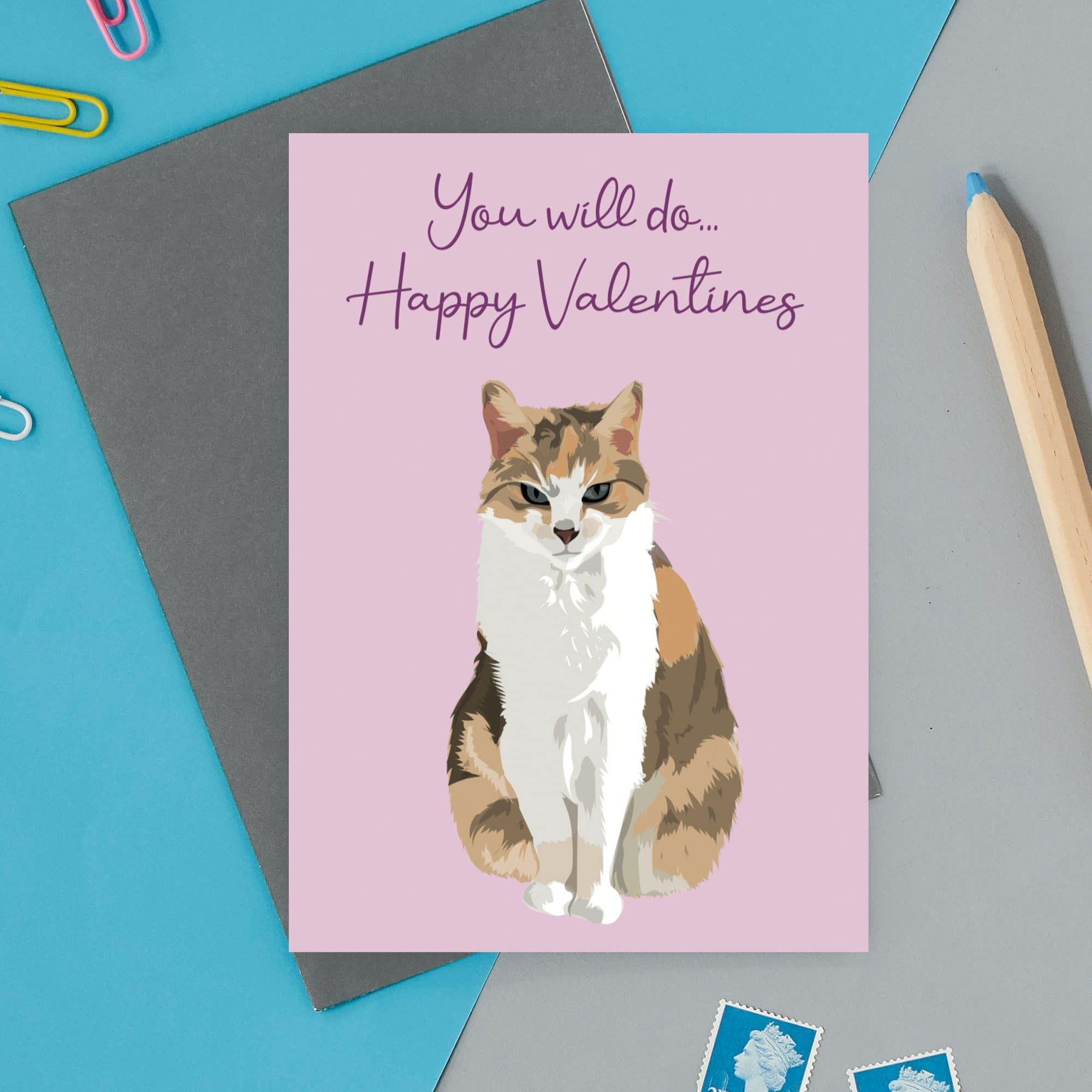 You will Do Valentines Cat Card