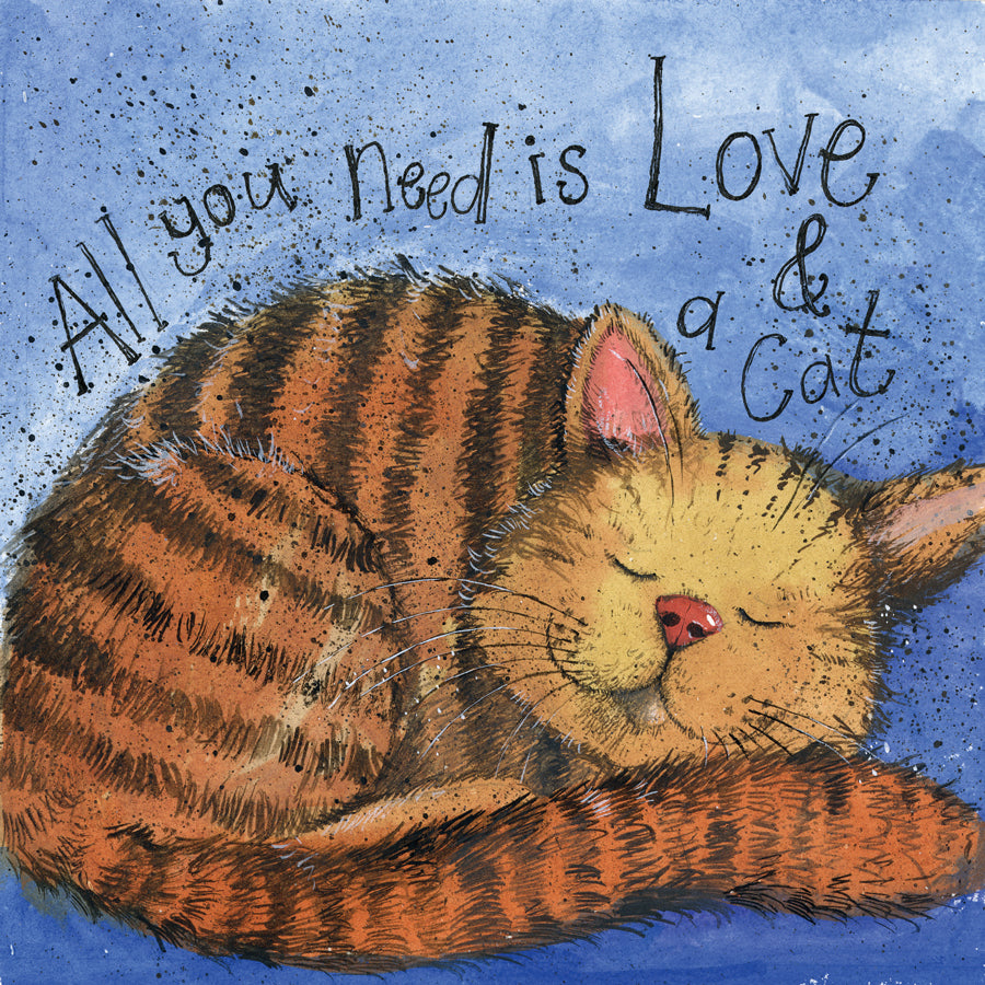 Alex Clark Love and a Cat Card
