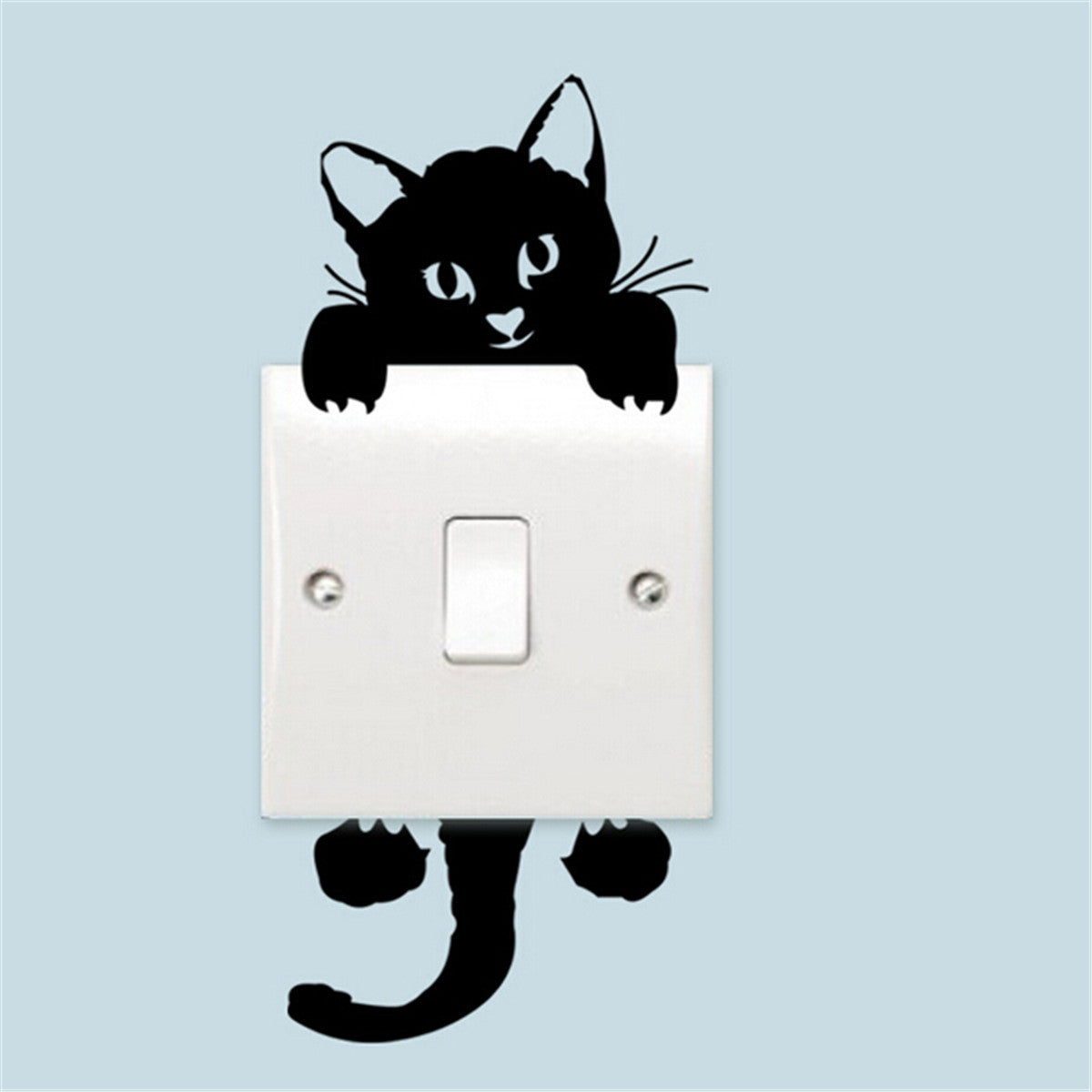 black kitten light switch sticker