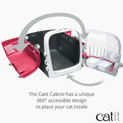 Catit Cabrio Carrier, Cherry Red