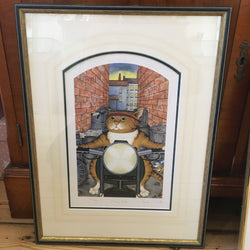 Fleasy Rider Limited Edition Framed Vintage Print by Linda Jane Smith