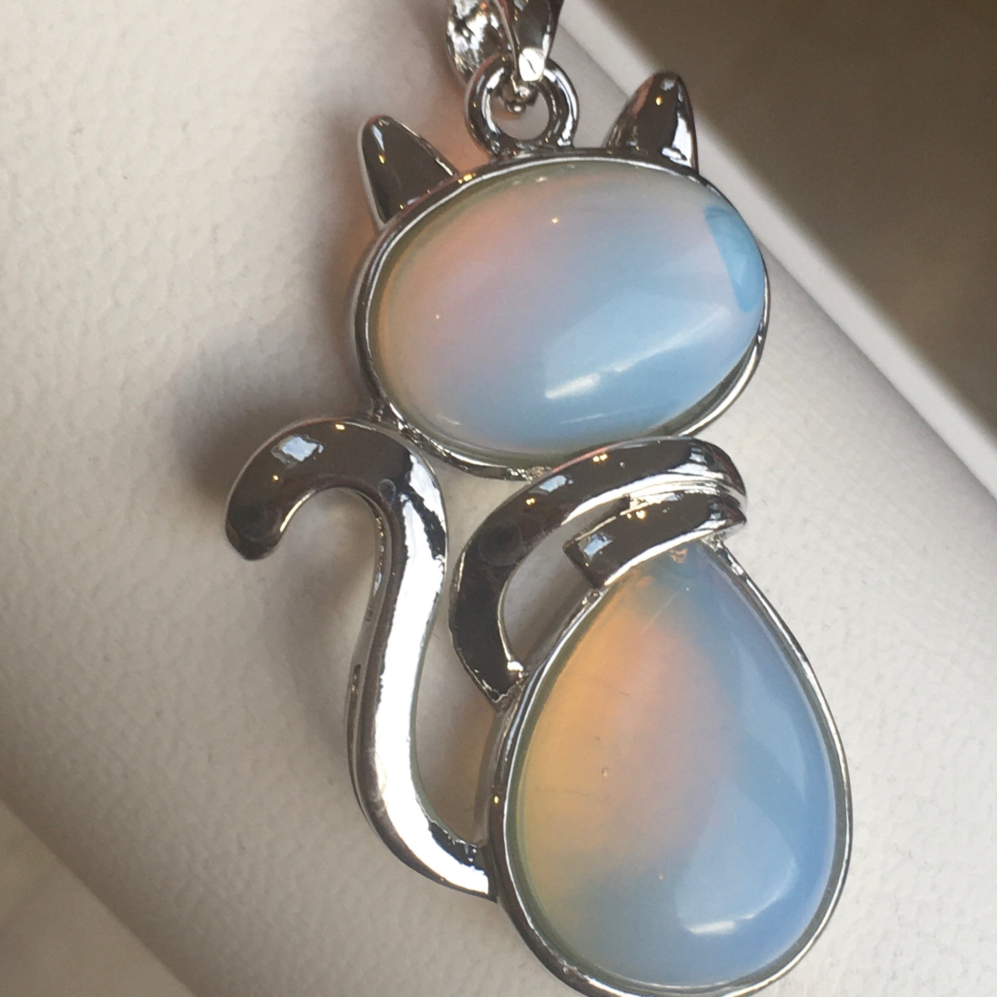 Moonstone Cat Pendant