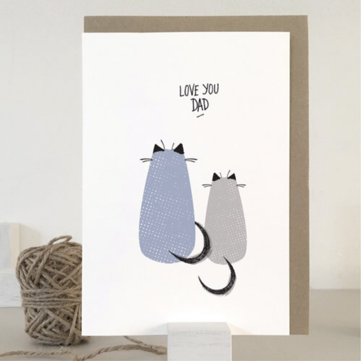 Love you Dad Cat Card