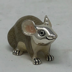 Large Sterling Silver & Enamel Mouse by Saturno