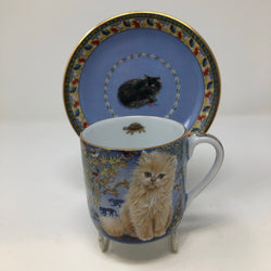 Lesley Anne Ivory Single Cat Cup & Saucer (6)