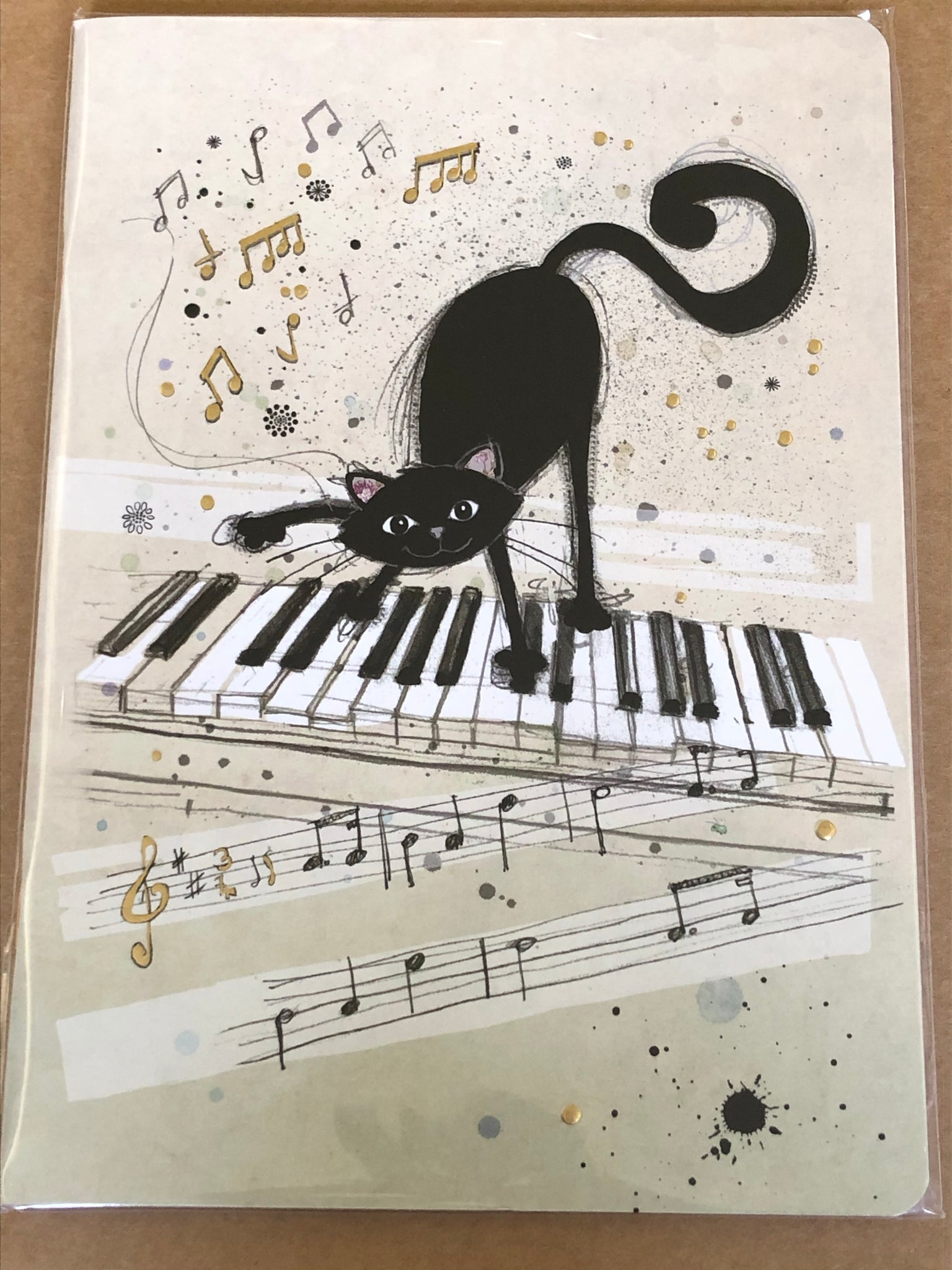 Keyboard Cat Soft A5 Notebook