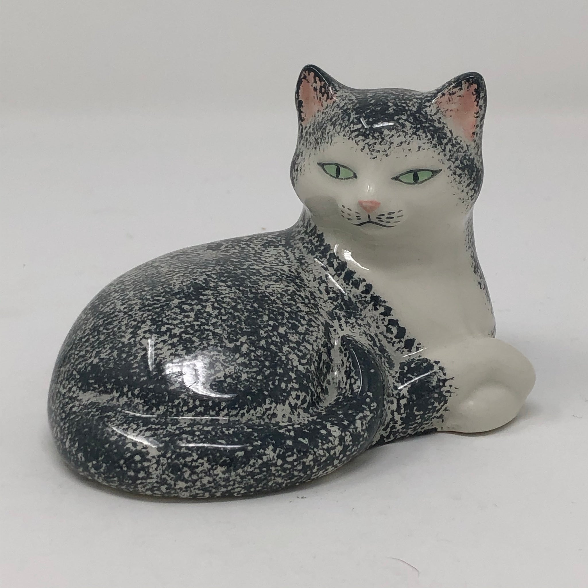 Vintage Grey & White Cat