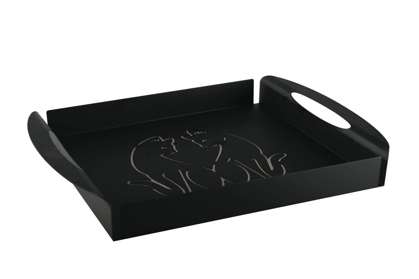 Cat Design Metal Tray