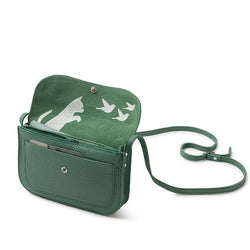 Cat Chase Leather Handbag, Forest