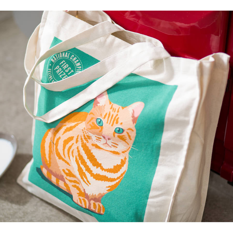 Marmalade Cat Cotton Tote Bag