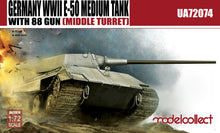 Load image into Gallery viewer, Modelcollect 1/72 German E-50 w 88mm Gun (Middle Turret) UA72074