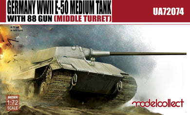 Modelcollect 1/72 German E-50 w 88mm Gun (Middle Turret) UA72074