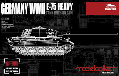 Modelcollect 1/72 German E-75 Heavy w/ 88mm Gun MA72001
