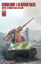 Load image into Gallery viewer, Modelcollect 1/72 German WWII E-50 Medium Panzer w/128mm Flak 40 Gun UA72099