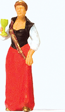 Load image into Gallery viewer, Preiser 1/87 HO Wine Queen (Woman w/Sash & Crown) Figure 29105