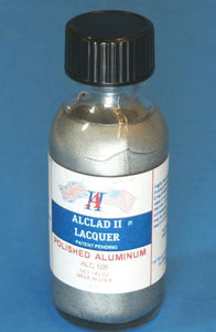 Alclad ALC105 Polished Aluminum Lacquer Paint 1oz
