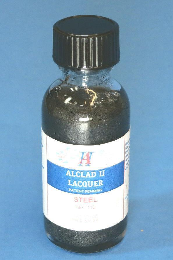 Alclad ALC112 1oz. Steel Lacquer Paint