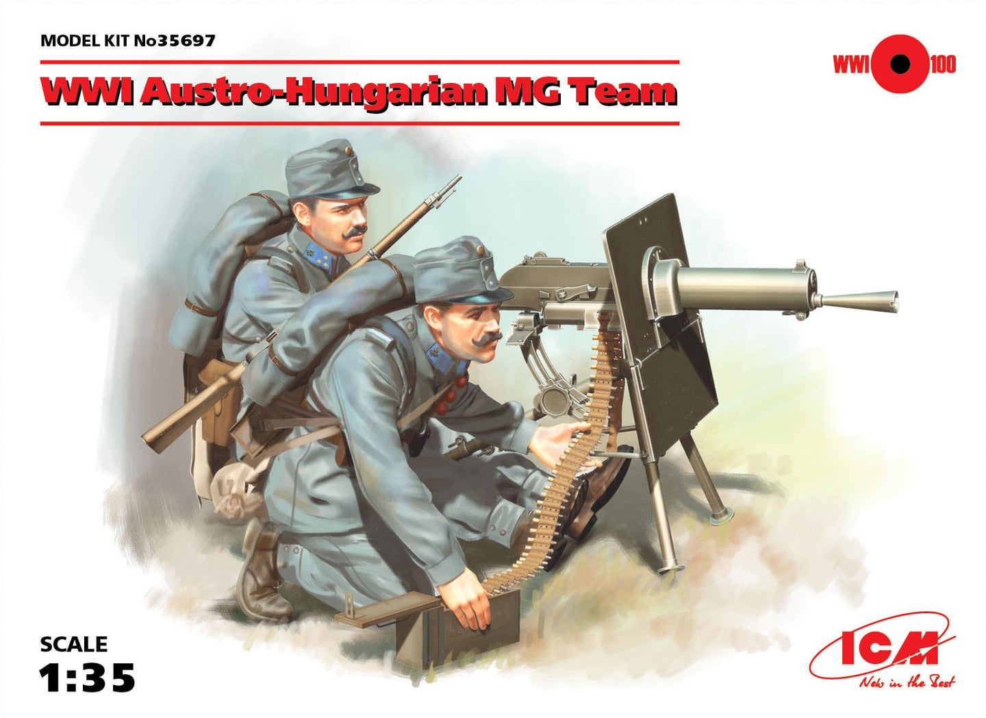ICM 1/35 Austro-Hungarian WWI MG Team 35697