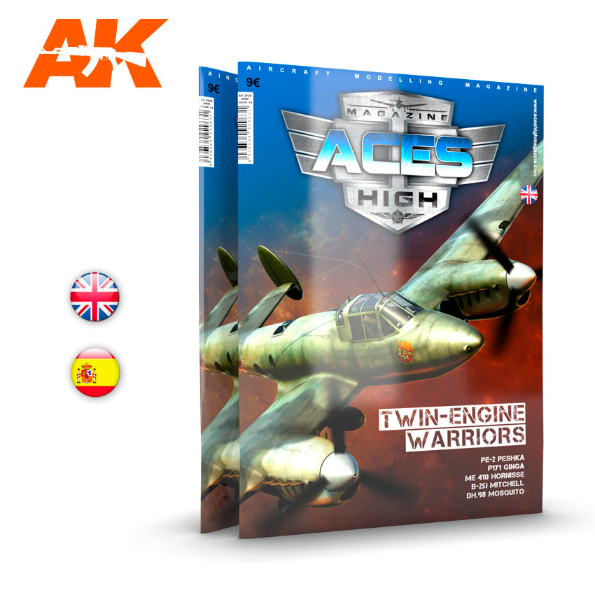 AK Interactive Book AK2929 Aces High Issue 14 Twin Engine Warriors