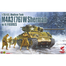 Load image into Gallery viewer, Asuka (Tasca) 1/35 US M4A3 (76)W Sherman w/ 4 Figures 35-048