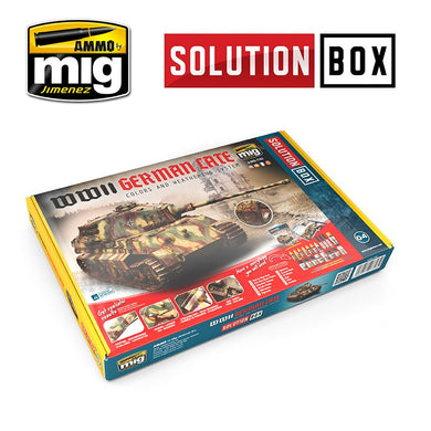 Ammo by Mig AMIG7703 Solution Box WWII German Late Colors & Weathering System
