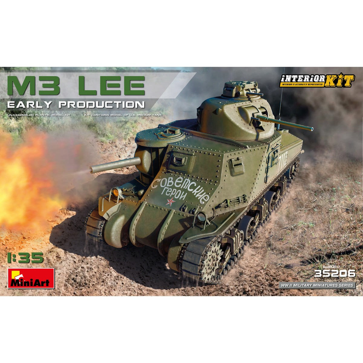 MiniArt 1/35 US M3 Lee Early W/Interior  35206