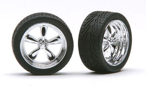 "Pegasus Rim & Tire Set 1/24 2301 23"" T's Chrome"