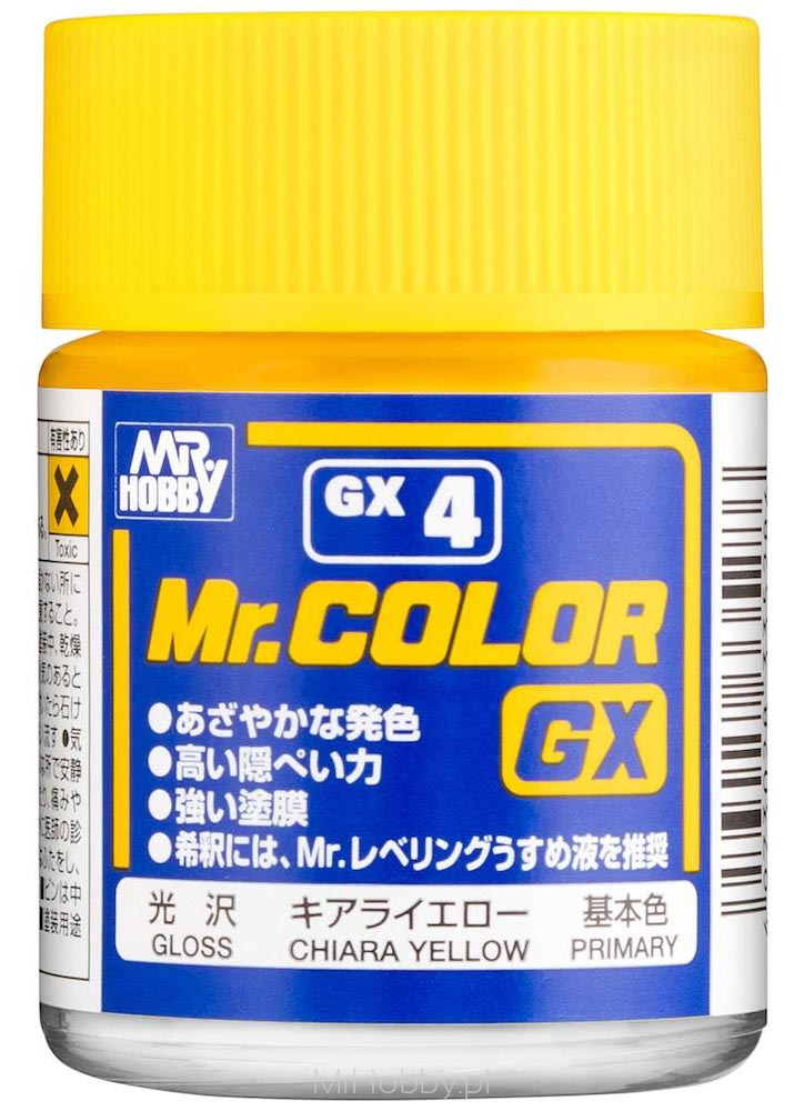 Mr. Hobby Mr Color Lacquer GX004 Gloss Chiara Yellow 18ml