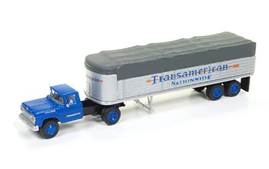 Classic Metal 1/87 HO Ford Tractor/Trailer Set 1960 Transamerican 31170