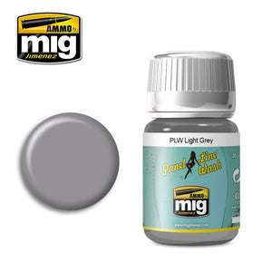 Ammo by Mig AMIG1600 Panel Line Wash Light Grey