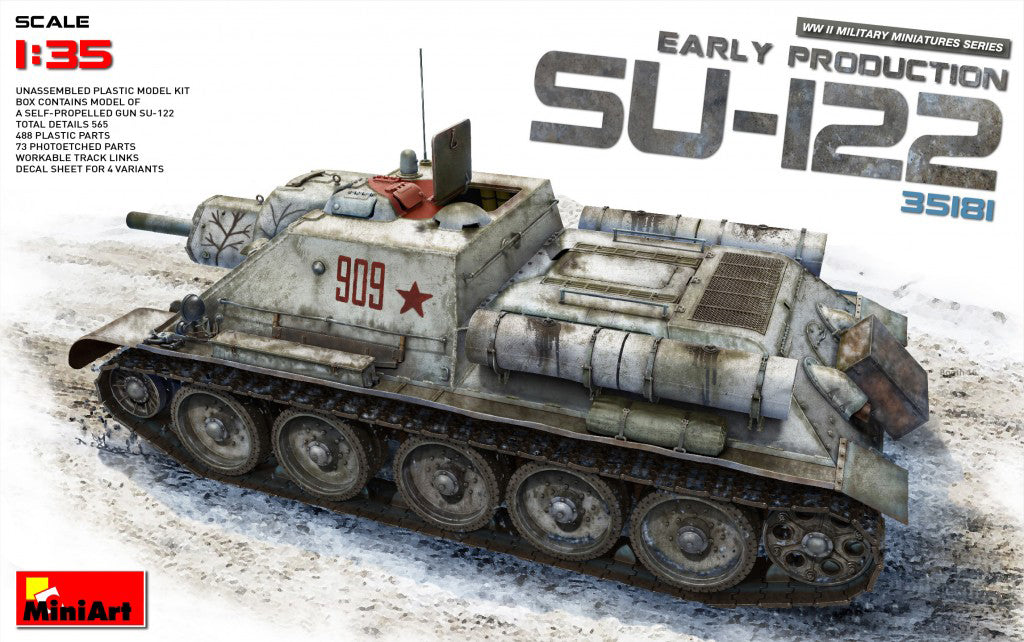 MiniArt 1/35 Russian SU-122 Self Propelled Gun Early Production 35181