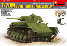 Load image into Gallery viewer, MiniArt 1/35 Russian T-70M Light Tank W/Crew 35194
