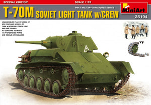 MiniArt 1/35 Russian T-70M Light Tank W/Crew 35194
