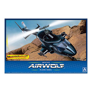 Aoshima 1/48 Airwolf w/ Clear Body Option Plastic Model Kit 00559
