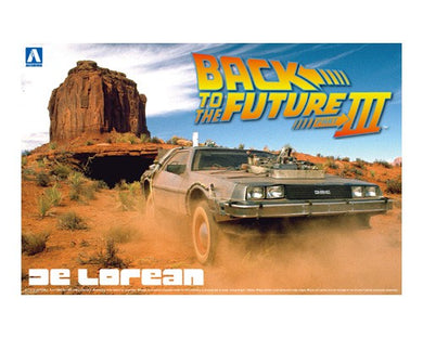 Aoshima 1/24 DeLorean From Back to the Future III Model Kit 01187