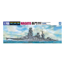 Load image into Gallery viewer, Aoshima 1/700 IJN Battleship Nagato 1942 Updated Edition 04510