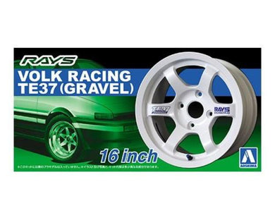 Aoshima 1/24 Rim & Tire Set ( 11)  Rays Volk Racing TE37 16