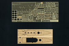 Load image into Gallery viewer, Aoshima 1/700 HMS Heavy Cruiser Exeter w PE and Wood Deck Combo 05273C