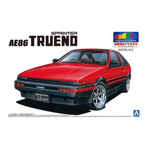 Aoshima 1/24 Toyota AE86 Sprinter Trueno Red / Black Painted Body 05315