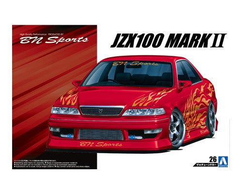 Aoshima 1/24 Toyota JZX100 Mark II BN Sports Plastic Kit 05357